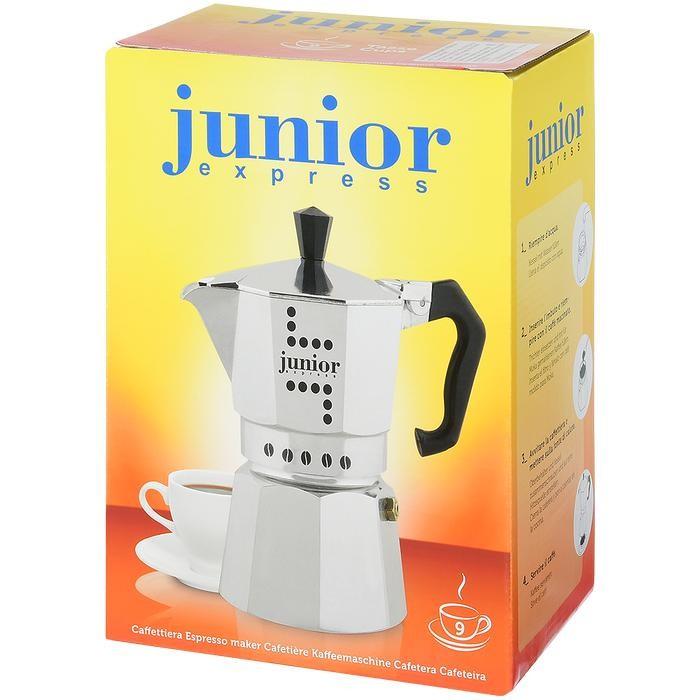 Bialetti Гейзерная кофеварка Junior 9 порций