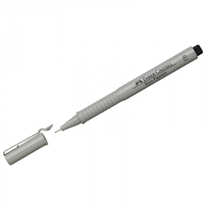 Канцелярия Faber-Castell Ручка капиллярная Ecco Pigment 0.1 мм faber castell ручка капиллярная ecco pigment 0 7 мм цвет чернил черный