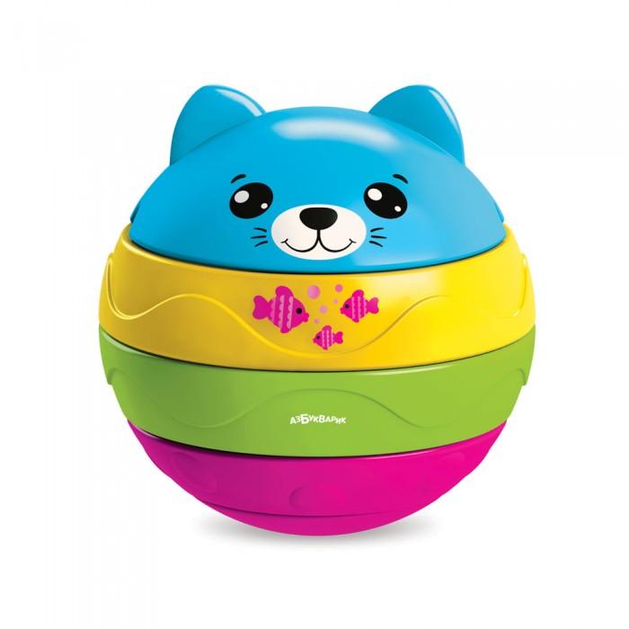 Электронные игрушки, Азбукварик Котенок музыкальный мячик-пирамидка  - купить со скидкой
