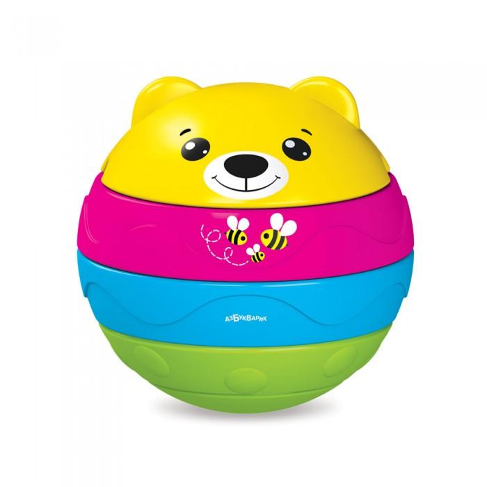 Купить Электронные игрушки, Азбукварик Мишутка музыкальный мячик-пирамидка