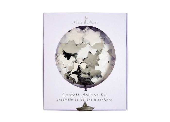MeriMeri Воздушные шары с конфетти Серебро