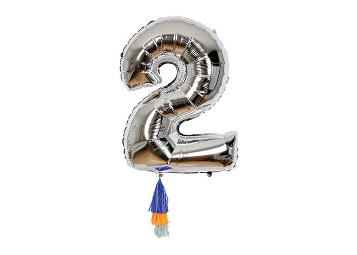 MeriMeri Воздушный шар в форме цифры 2