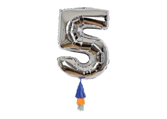 Купить Товары для праздника, MeriMeri Воздушный шар в форме цифры 5