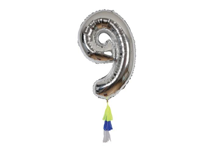 Купить Товары для праздника, MeriMeri Воздушный шар в форме цифры 9