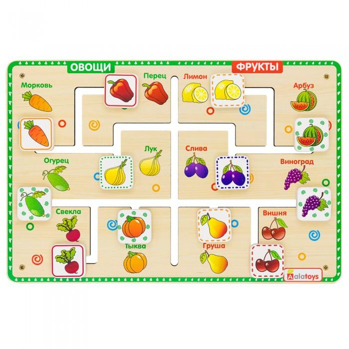 Alatoys Настольная игра Лабиринт - логика  Овощи - фрукты