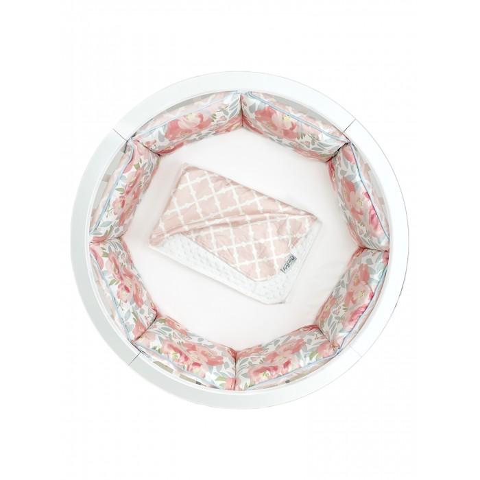 Бортик в кроватку Mom'Story Design двухсторонний Английские Розы