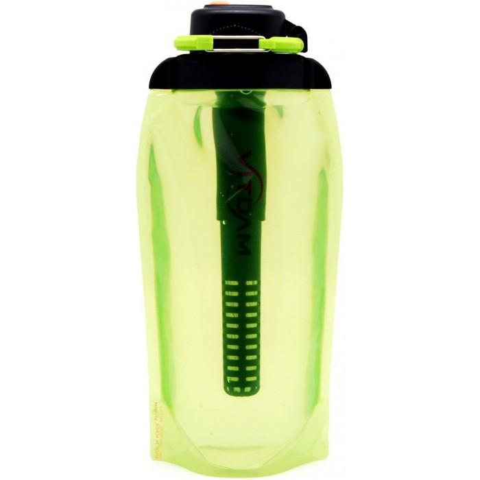 Vitdam Складная эко бутылка с карабином 400 мл