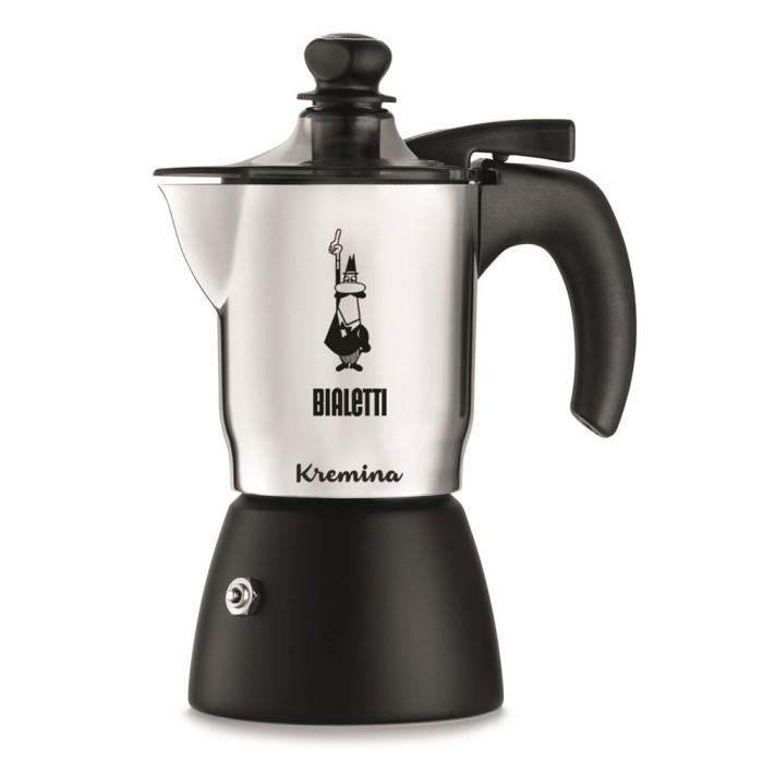 Bialetti Гейзерная кофеварка Kremina со вспенивателем 3 порции