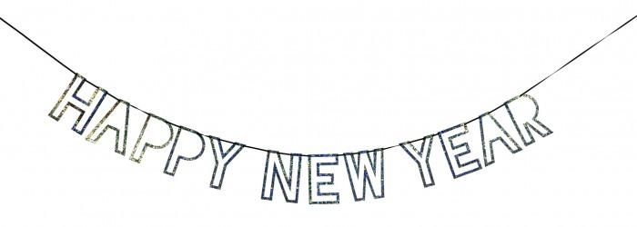 Новогодние украшения MeriMeri Гирлянда Happy New Year