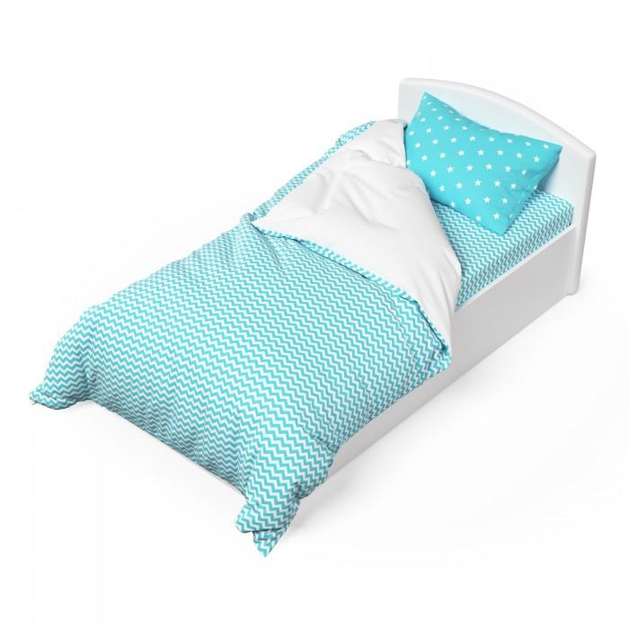 Постельное белье 1.5-спальное Капризун Мятный бриз (3 предмета) набор ковриков для ванной modalin yana 2 предмета мятный