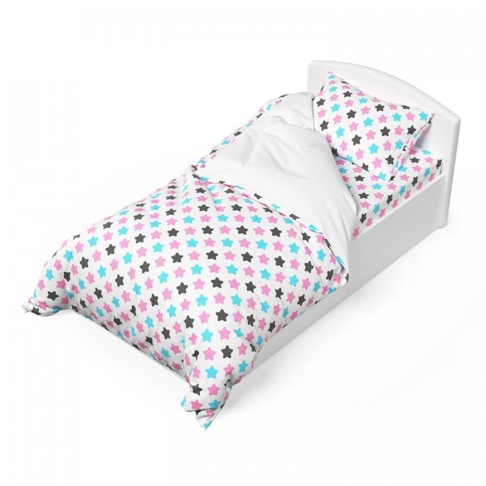 Постельное белье 1.5-спальное Капризун Розовые звезды (3 предмета)