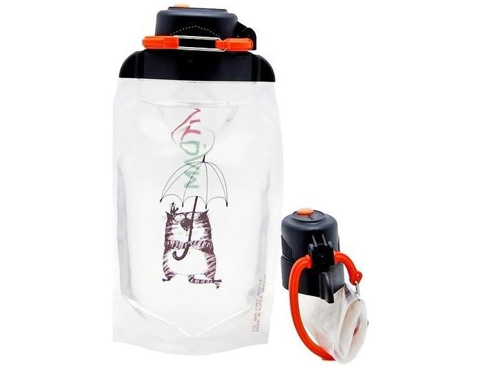 Vitdam Складная эко бутылка с карабином Leveer 700 мл