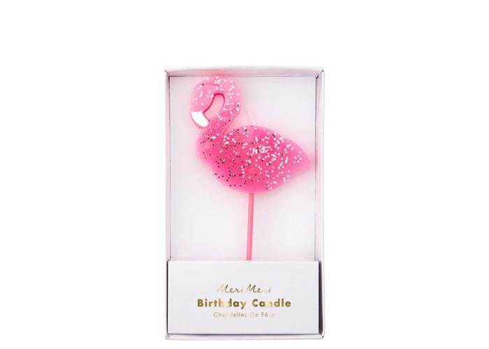 MeriMeri Свеча большая Фламинго