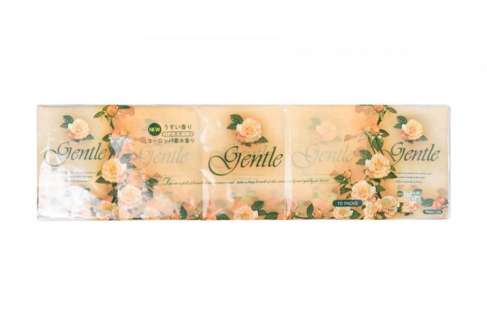 Салфетки Gotaiyo Gentle Бумажные трехслойные платочки с ароматом Европы 10 пачек цена 2017