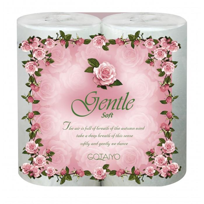 Хозяйственные товары Gotaiyo Gentle Soft Двухслойные бумажные полотенца в рулоне с ароматом Европы 2 шт. цена 2017