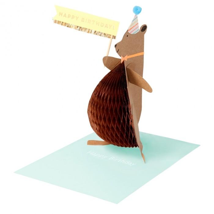 товары для праздника Товары для праздника MeriMeri Открытка объемная Кинкажу