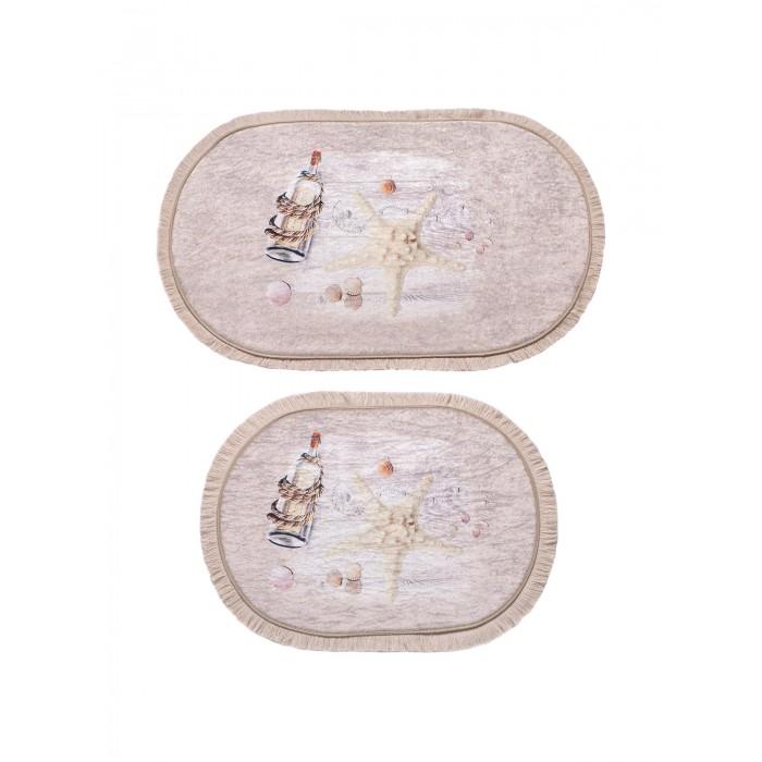 Аксессуары для ванн Decovilla Набор ковриков для ванной и туалета 2 шт. ТК-0002a набор ковриков для ванной modalin yana 2 предмета мятный