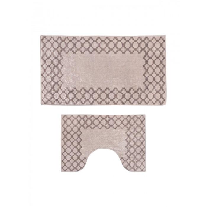 Аксессуары для ванн Decovilla Набор ковриков для ванной и туалета 2 шт. ТК-0003 набор ковриков для ванной modalin yana 2 предмета мятный