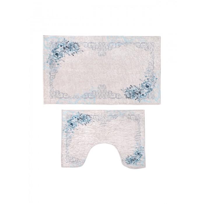 Аксессуары для ванн Decovilla Набор ковриков для ванной и туалета 2 шт. ТК-0004 набор ковриков для ванной modalin yana 2 предмета мятный