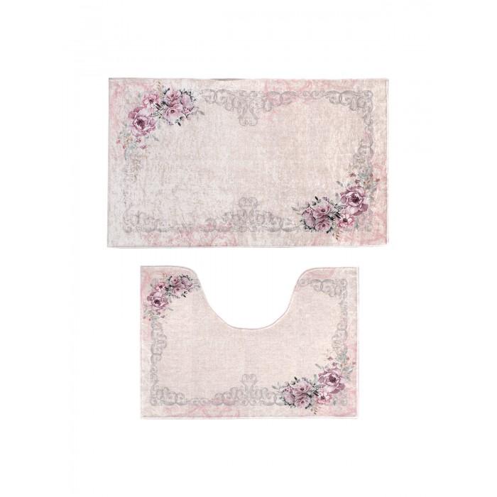 Аксессуары для ванн Decovilla Набор ковриков для ванной и туалета 2 шт. ТК-0005 набор ковриков для ванной modalin yana 2 предмета мятный
