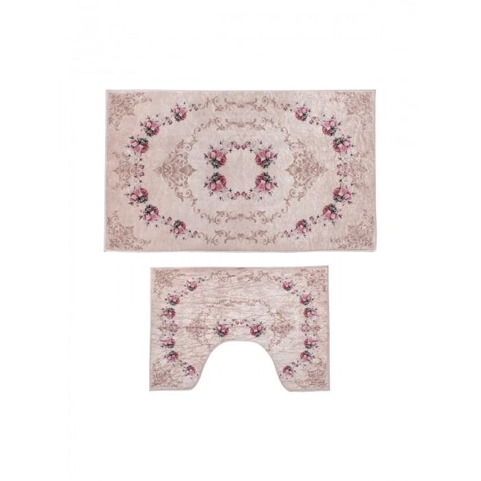 Аксессуары для ванн Decovilla Набор ковриков для ванной и туалета 2 шт. ТК-0007 набор ковриков для ванной modalin yana 2 предмета мятный