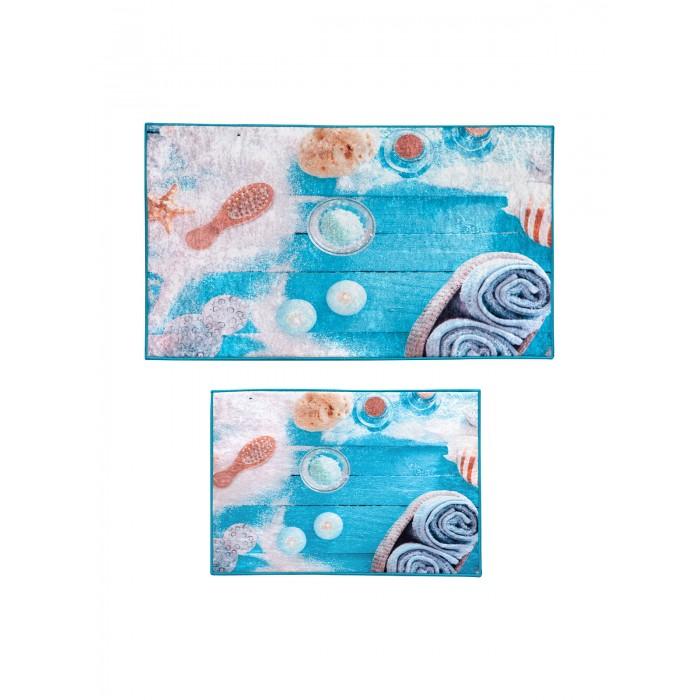 Аксессуары для ванн Decovilla Набор ковриков для ванной и туалета 2 шт. ТК-00013 набор ковриков для ванной modalin yana 2 предмета мятный