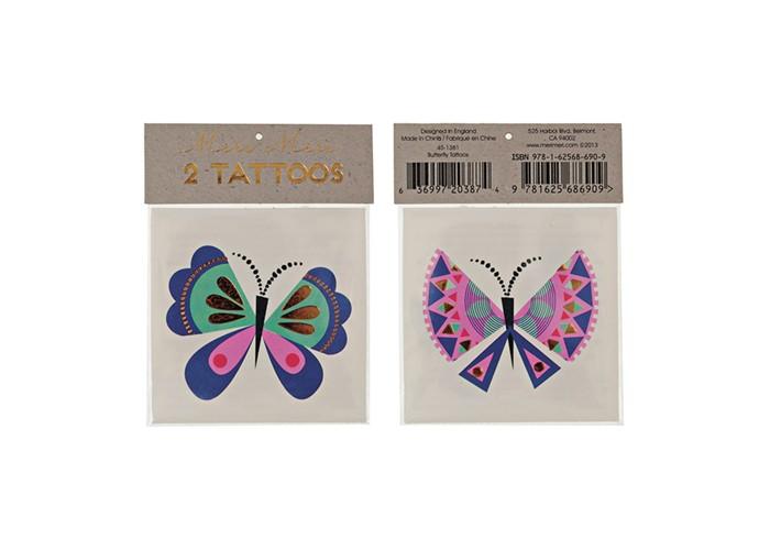 Наборы для творчества MeriMeri Переводные татуировки Бабочка