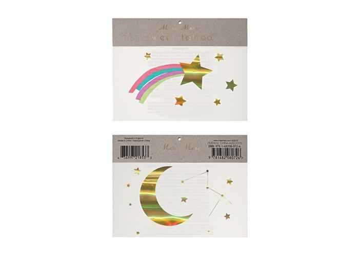 Наборы для творчества MeriMeri Переводные татуировки Падающая звезда с радугой