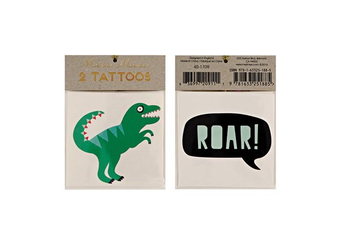 Наборы для творчества MeriMeri Переводные татуировки Динозавр