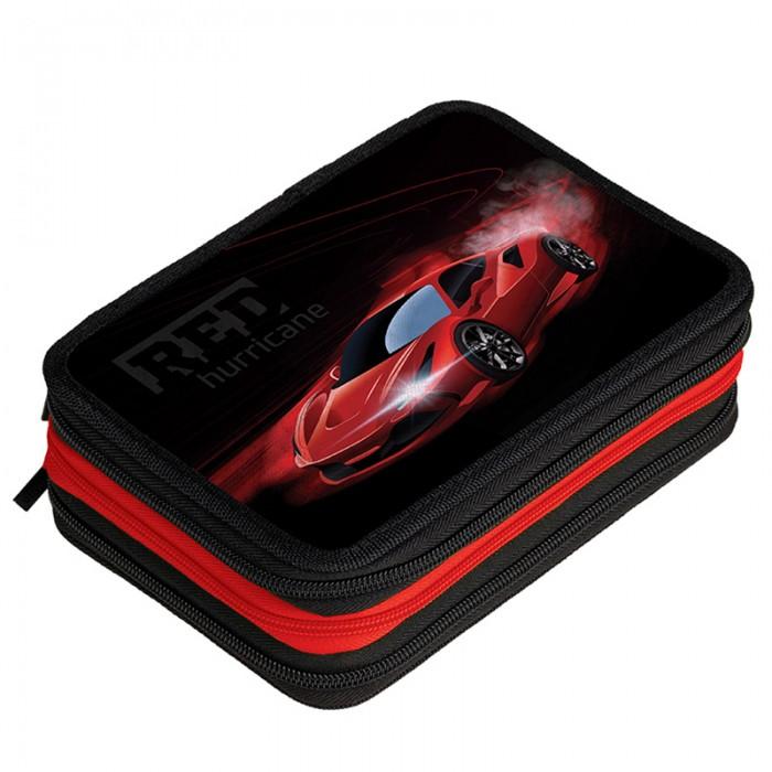Berlingo Пенал Red hurricane 3 отделения