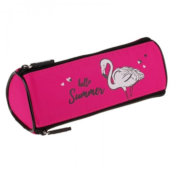 Пеналы Berlingo Пенал мягкий Flamingo 3 молнии