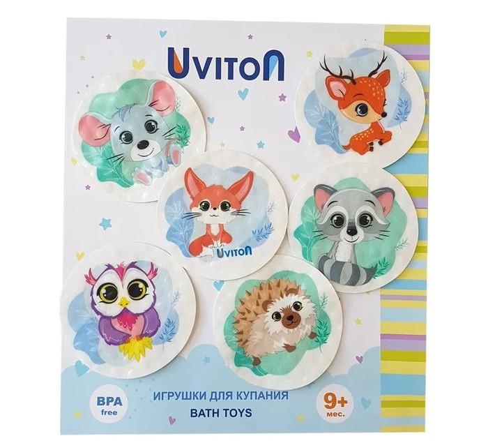 коврики для купания Игрушки для ванны Uviton Набор для купания на присосках Лесные животные 6 шт.