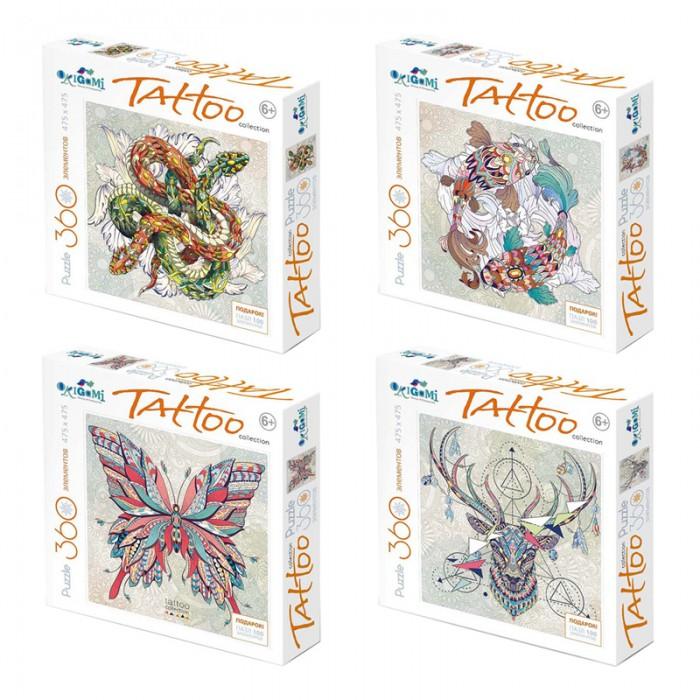 Пазлы Origami Пазл Арт-терапия Tatoo (360 элементов) + подарок Пазл (100 элементов) пазл 180 элементов monster high специальная коллекция 7310