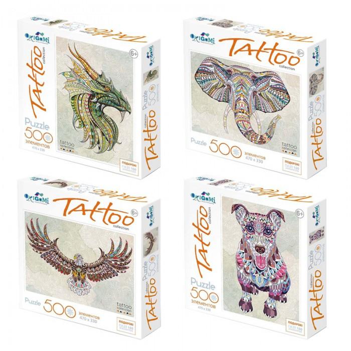 Пазлы Origami Пазл Арт-терапия Tatoo (500 элементов) + подарок Пазл (100 элементов) пазл 180 элементов monster high специальная коллекция 7310