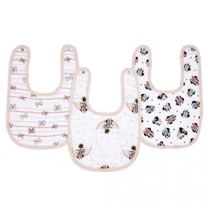 Нагрудник Aden&Anais Minnie rainbows snap bibs Essentials 3 шт.