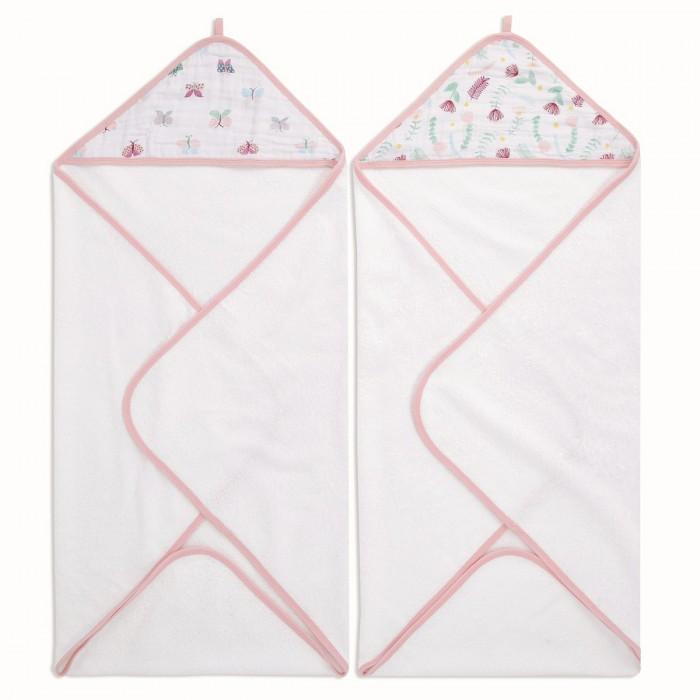 Полотенца AdenAnais Набор полотенец с уголком Floral fauna 76x76 см 2 шт.