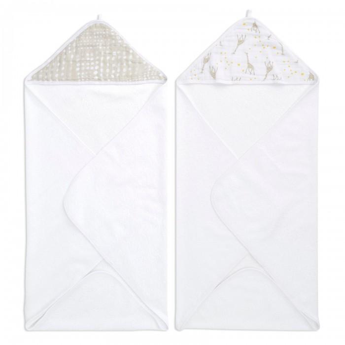 Полотенца AdenAnais Набор полотенец с уголком Starry star 76x76 см 2 шт. полотенца honda towel набор полотенец в подарочной упаковке regal 34х80 см 2 шт