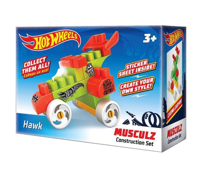 Конструкторы Hot Wheels Musculz Hawk лев раскраска с наклейками 2005 hot wheels