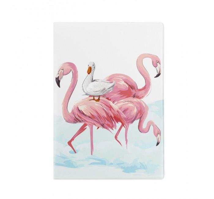 обложка для паспорта printio влюбленные фламинго Канцелярия Kawaii Factory Обложка для паспорта Фламинго и утка