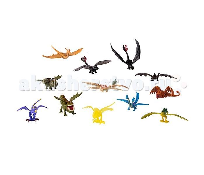 Dragons Набор 15 маленьких драконовНабор 15 маленьких драконовDragons Набор 15 маленьких драконов минифигурки персонажей, созданные для юных поклонников мультфильма Как приручить дракона, в котором рассказывается о жизни викингов.   В наборе: 15 небольших фигурок разных дракончиков, среди которых обаятельный дракон ночная фурия Беззубик, злобный змеевик Громгильда, громмель Сарделька, ужасное чудовище Кривоклык и, конечно же, двухголовый кошмарный пристеголов Барс и Вепрь.  Фигурки выполнены с высокой степенью детализации, персонажи легко узнаваемы, отлиты из качественного безопасного пластика, ярко окрашены.<br>