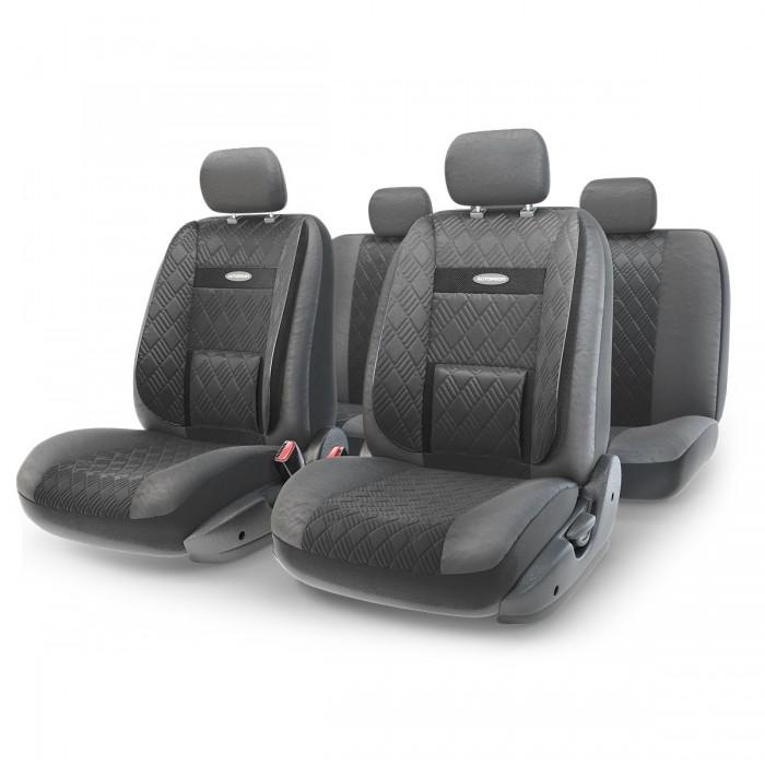Купить Аксессуары для автомобиля, Autoprofi Авточехлы Extra Comfort размер М COM-1105GP (11 предметов)