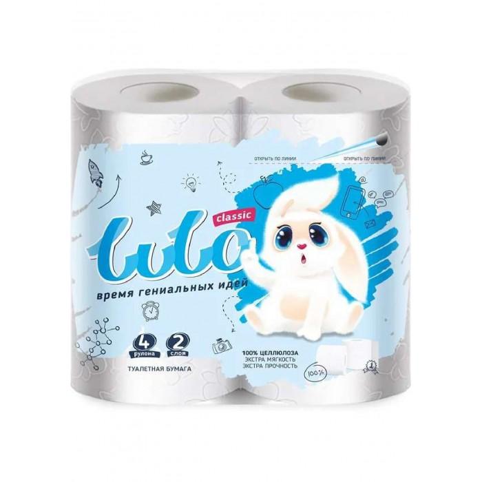 Хозяйственные товары LuLo Бумага туалетная 2-х слойная Классик 4 шт.