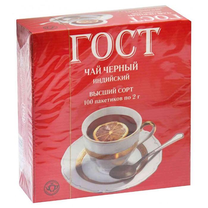 Фото - Чай Тот Самый Чай черный ГОСТ 100 пак. тот самый кот