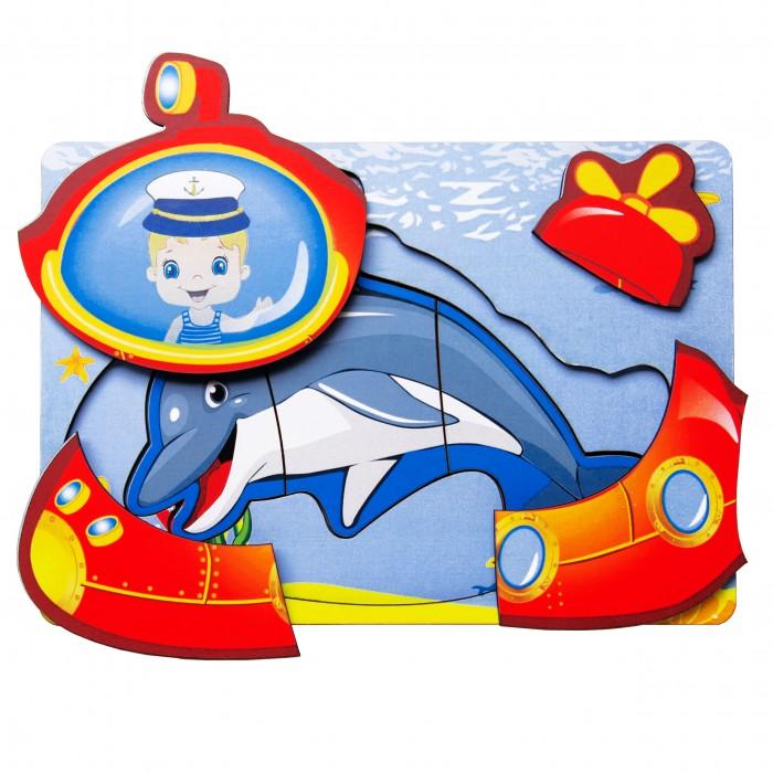 Картинка для Деревянные игрушки Сибирские игрушки Вкладыш многослойный Морской