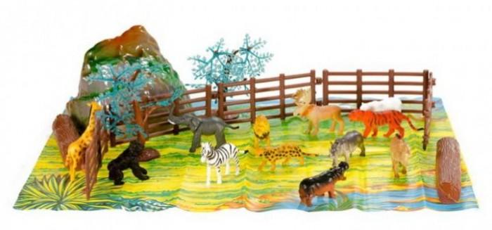 Игровые фигурки Wing Crown Набор фигурок Дикие животные с игровой средой