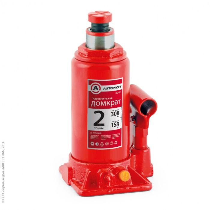 Аксессуары для автомобиля Autoprofi Домкрат бутылочный гидравлический 2 тонны DG-02