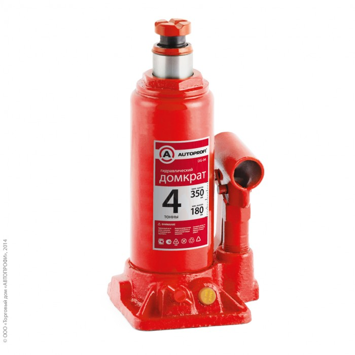 Аксессуары для автомобиля Autoprofi Домкрат бутылочный гидравлический 4 тонны DG-04