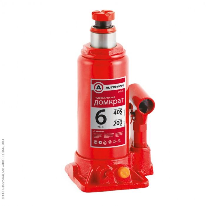 Аксессуары для автомобиля Autoprofi Домкрат бутылочный гидравлический 6 тонн DG-06