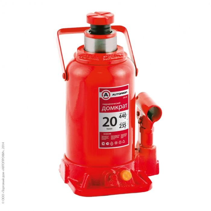 Аксессуары для автомобиля Autoprofi Домкрат бутылочный гидравлический 20 тонн DG-20