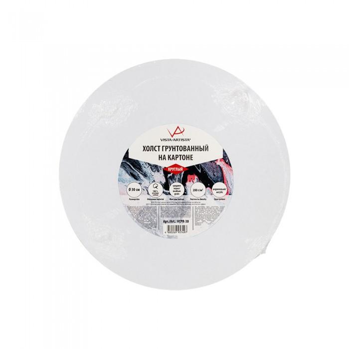 vista artista холст грунтованный cpg 4050 Принадлежности для рисования Vista-Artista Холст грунтованный на картоне круглый d 30 см